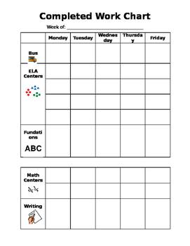 Weekly Behavior Chart - Editable