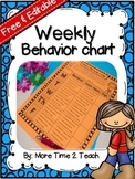 Weekly Behavior Chart {Editable & Free}