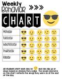 Weekly Behavior Chart- Emoji Style