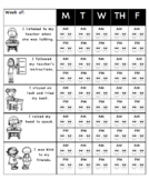 Weekly Behavior Chart(English)