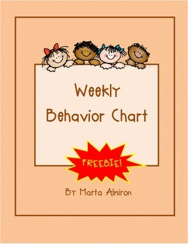 Weekly Behavior Chart - September FREEBIE