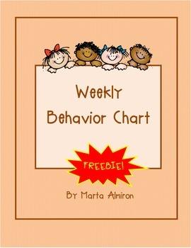 Weekly Behavior Chart - September FREEBIE
