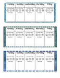 Weekly Behavior Charts