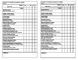 Weekly Behavior Check Sheet in English & Spanish