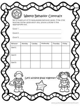Weekly Behavior Contract