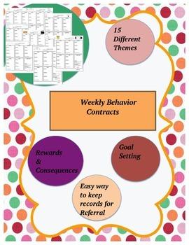 Weekly Behavior Contracts