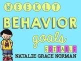 Weekly Behavior Goal Chart Editable