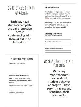 Weekly Behavior Journal
