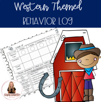 Weekly Behavior Log