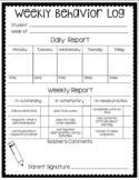 Weekly Behavior Log (Completely Editable)
