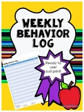 Weekly Behavior Log Ready to print and use