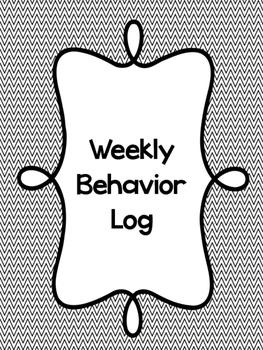Weekly Behavior Logs