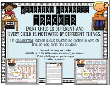 Weekly Behavior Progress Tracker