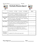 Weekly Behavior Report