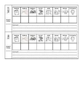 Individual Weekly Behavior Chart