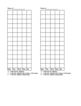 Behavior Chart for Work Completion