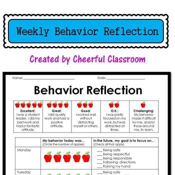 Weekly Behavior Reflection Report / Parent Communication