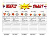 Weekly Behavior Report (Super Hero Theme)