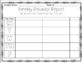 Weekly Behavior Report for Behavior Charts