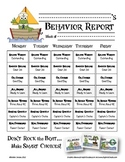 Weekly Behavior Report for Parents