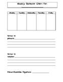Weekly Behavior Sheet