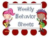 Weekly Behavior Sheets