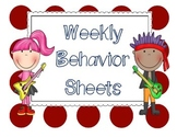 Weekly Behavior Sheets