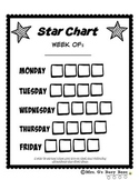 Weekly Behavior Star Chart