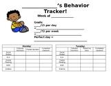 Weekly Behavior Tracker - EDITABLE!