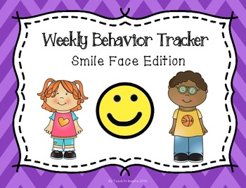 Weekly Behavior Tracker:  Smile Face Edition