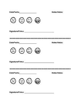 Weekly Behavior Tracker (bilingual)