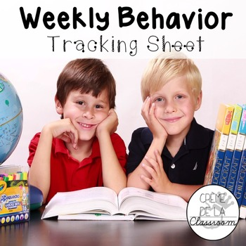 Weekly Behavior Tracking Sheet