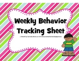 Weekly Behavior Tracking Tool