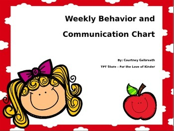 Weekly Behavior and Communication Chart