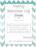 Weekly Behaviour Log