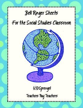 Weekly Bell Ringer Sheet for Social Studies World History