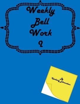 Weekly Bell Work 2