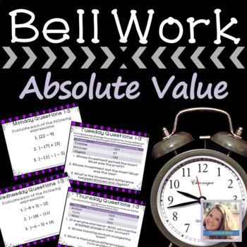 Weekly Bell Work: Absolute Value