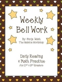 Weekly Bell Work Bundle #4 - Daily Reading & Math Practice for 2nd and 3rd grade