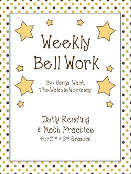 Weekly Bell Work Bundle #2 - Daily Reading & Math Practice