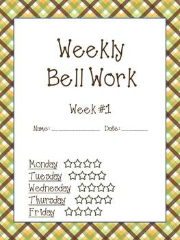 Weekly Bell Work Bundle #1 - Daily Reading & Math Practice for 2nd and 3rd grade