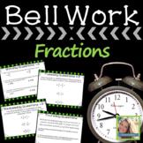 Math Warm Ups Fractions