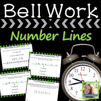 Math Warm Up Number Lines