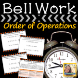 Math Warm Ups Order of Operations