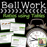 Math Warm Up Ratios Tables and Graphs