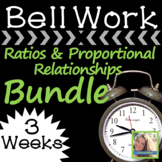 Math Warm Up Ratios and Proportional Relationships Bundle