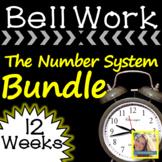 Math Warm Ups The Number System Bundle