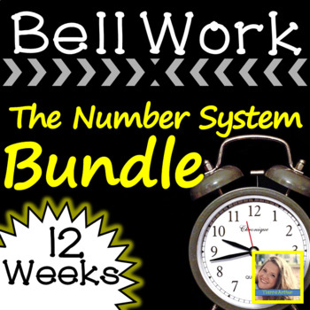 Math Warm Up The Number System Bundle