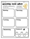 Weekly Bell Work template