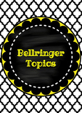 Weekly Bellringer Handout with Daily Topics